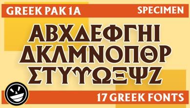 GREEK PAK 1A 17-font family